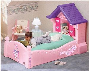 Letto bambine casa principessa letto singolo rosa con persiane materasso e base ebay - Letto principessa ...