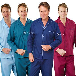 Mens-Champion-Oxford-Polycotton-Plain-Pyjama-Set-Sizes-S-up-to-5XL