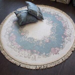 teppich brillant rund 150 x 150 cm rutschfest trocknergeeignet pflegeleicht ebay. Black Bedroom Furniture Sets. Home Design Ideas