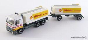 Schuco-342-6505-H0-Mercedes-MB-LKW-Tankwagen-Shell-mit-Anhaenger-X00001-11013
