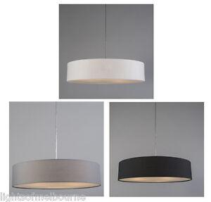 Mara drum pendant light black white or grey ebay image is loading mara drum pendant light black white or grey aloadofball Image collections