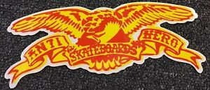 Anti-Hero-Skateboards-Sticker-Yellow-Krooked-Spitfire-Thrasher-FA-Real-Creature