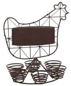 Coquetier-porte-oeufs-poule-fer-forge-brun-coq
