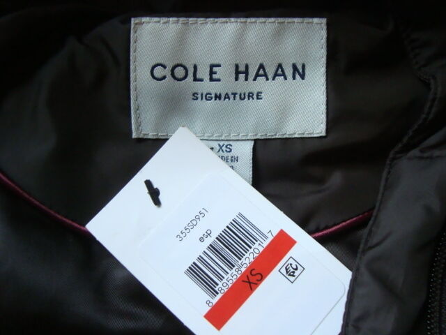NWT COLE HAAN SIGNATURE Belted High Collar into Hooded Down Long Esp.Coat Sz XS