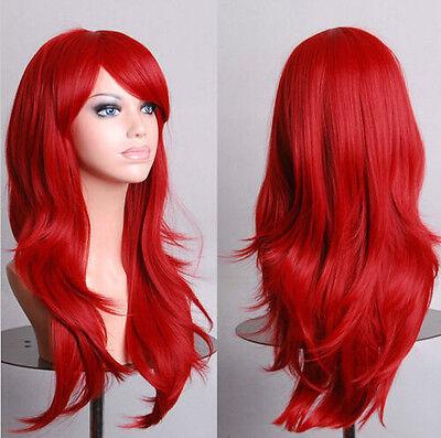 Sexy Fashion 70cm Long Curly Wig Cosplay Costume Anime Hair Full Wavy Wig Hair