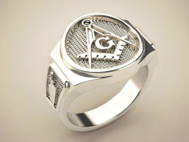 Handmade Master Mason's Ring in 925 Sterling Silver