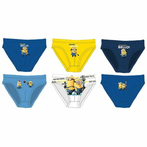 Boys PACK of 3 Despicable Me Minions Slip Briefs Underpants Pants 6 to 12 Years