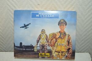 46-PIECES-FIGURINE-MINIATURE-SOLDAT-PERONNEL-U-S-A-A-F-HELLER-WWII-NEUF-1-72