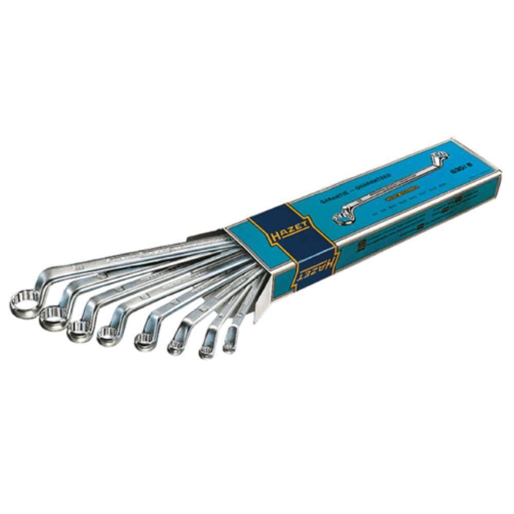 HAZET Doppelringschlüssel 8-teilig 6 x 7 - 21 x 22 mm D