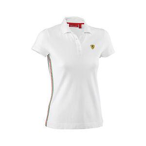d3266b0d694 NEW Womens Ladies FERRARI F1 White Classic Polo T-Shirt Various ...