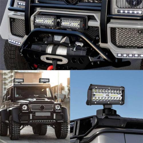 "1X 7/"" 400W LED Work Light Bar Flood Spot Beam Offroad 4WD SUV Driving Fog Light"