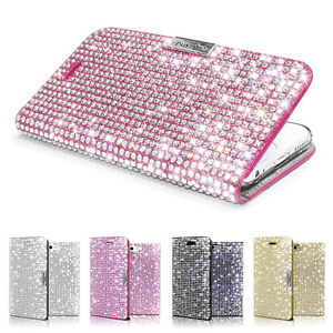 sale retailer 46ae0 edf7f Details about Bling Sparkle Diamond Glitter Wallet Flip Case for iPhone  6/7/8/Plus/X/XS/Max/XR