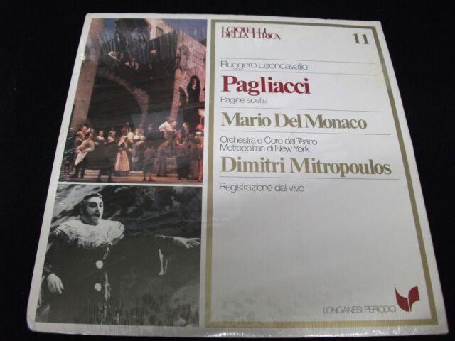 PAGLIACCI°<>DEL MONACO &MITROPOULOS<>*SEALED*Lp Vinyl~Italy Pressing~NO 11