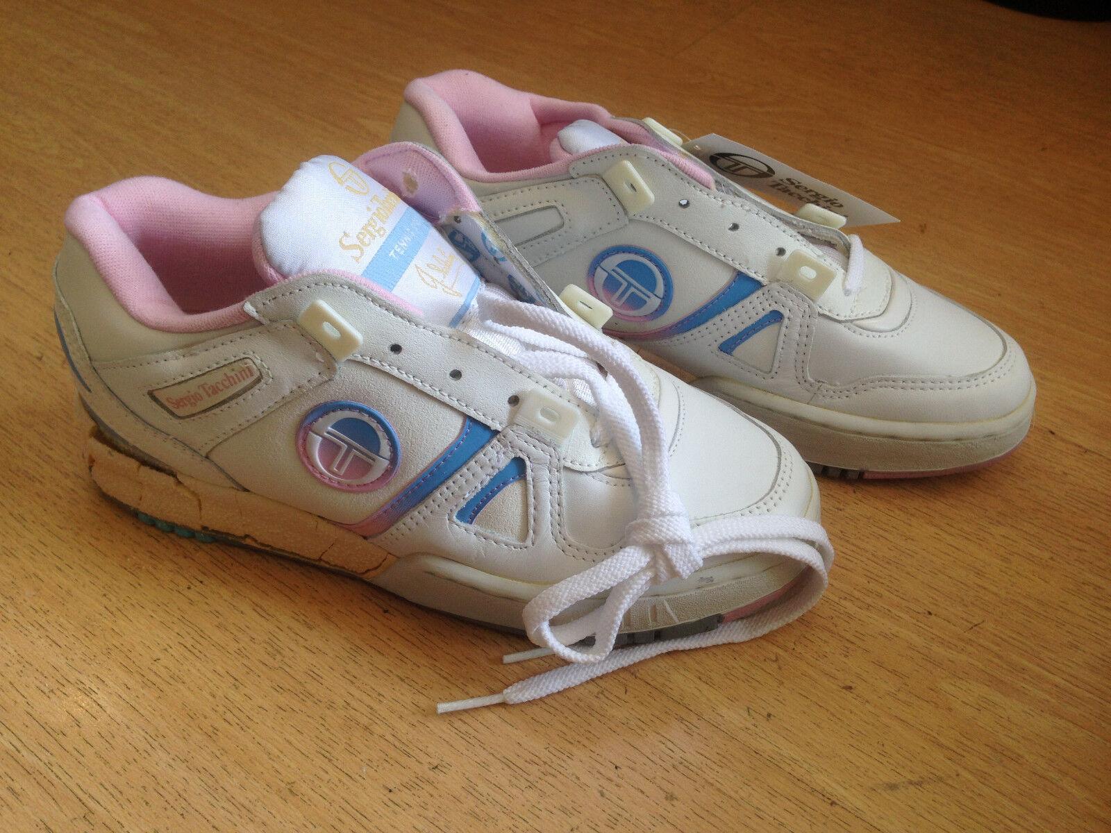 OG 1990s Sergio Tacchini SABATINI OPEN vintage sneakers Größe US5 SUPER RARE