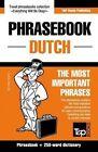English-Dutch Phrasebook and 250-Word Mini Dictionary by Andrey Taranov (Paperback / softback, 2015)