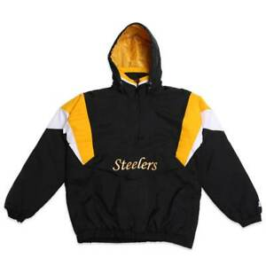 free shipping f08a7 a587b Details about Pittsburgh Steelers STARTER Men's Jacket NFL BREAKAWAY Jacket  XL Extra Large