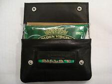 Top Quality Soft Leather Tobacco Pouch Organizer Top Brand Golunski Black