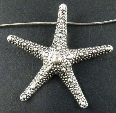 25pcs Tibetan Silver Starfish Charms Pendants 36x38x6mm 12686
