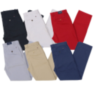 Tommy-Hilfiger-Chino-Pants-Mens-Tailored-Fit-Flat-Front-Flag-Logo-VARIETY