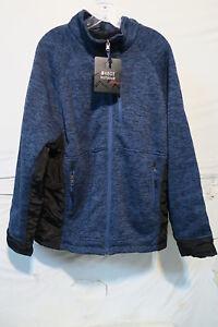 Marqt Outdoor Sherpa Lined Sweater Fleece Jacket Mens Xl Blue