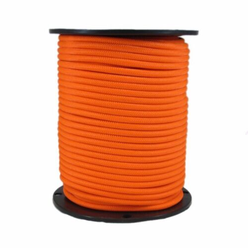 "1//4/"" x 1000 ft Dacron Polyester Rope Neon Orange"