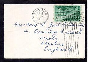 Estados Unidos sobre Chicago Reino Unido año 1953 (BD-503)