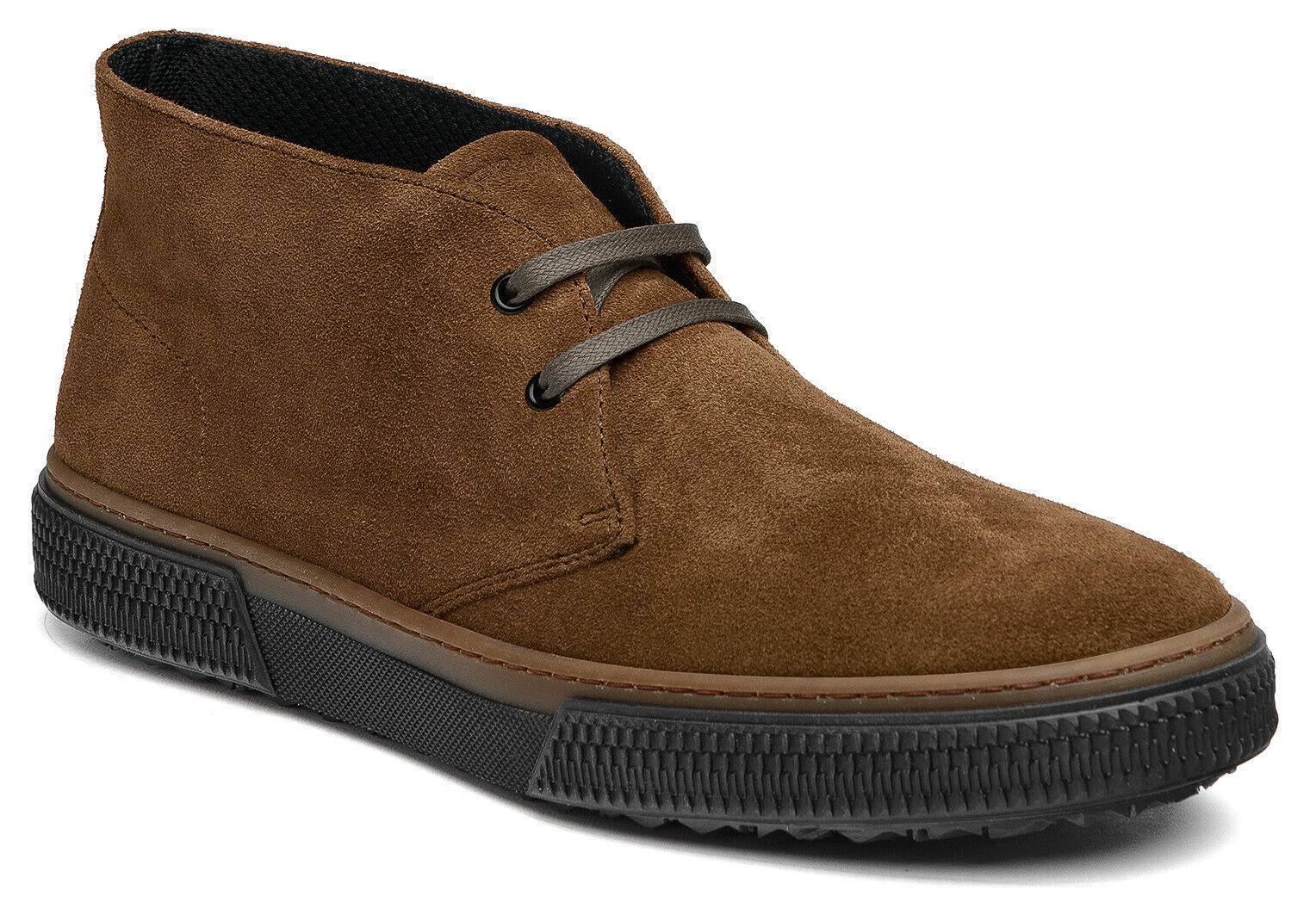 Frau 2815 Schuhe Casual Men Desert Stiefel Geschnürt aus Wildleder Far. Tabak