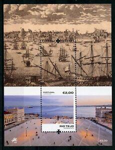 Portogallo-2018-Gomma-integra-non-linguellato-RIO-tejo-TAGO-River-1v-M-S-Barche-Navi-ARCHITETTURA