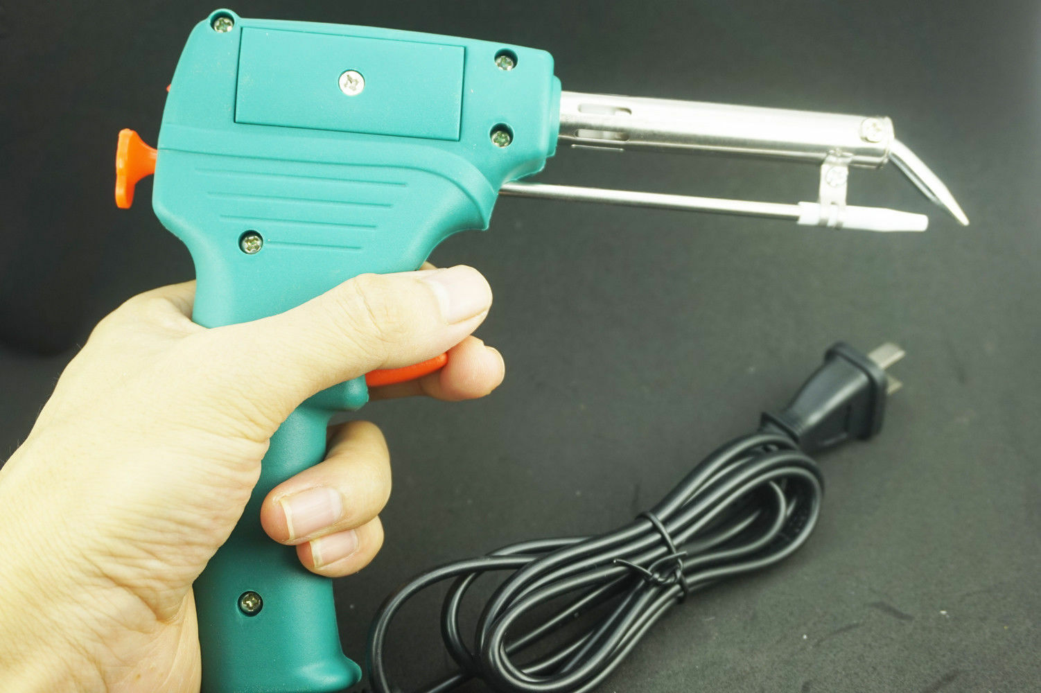 HEAVY DUTY ELECTRIC ELECTRICAL SOLDER SOLDERING IRON GUN BENT TIP 240V 60W