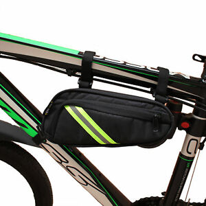 Bike Top Tube Bag Bicycle Front Frame Pannier Pouch Pack Case Reflective Hanging Ebay