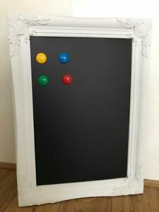 Large Ornate Framed Chalkboard Blackboard Organizer Wedding Magnetic Memo Board Ebay
