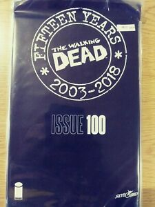 WALKING-DEAD-100-NM-15-YEAR-ANNIVERSARY-BLACK-POLYBAGG-SEALED-PA11-346