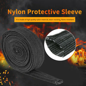 25/' NYLON PROTECTIVE SLEEVE SHEATH CABLE COVER /& TIG PLASMA TORCH HYDRAULIC HOSE