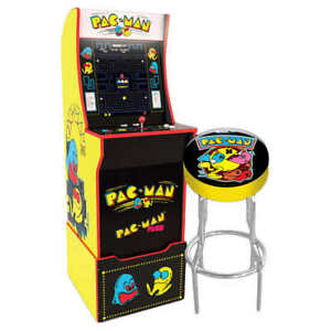 Pac-Man-Retro-Arcade1UP-Home-Video-Arcade-1UP-Cabinet-Stool-Riser-Free-Adapters