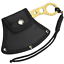 7-034-Golded-Coated-Full-Tang-SHARP-Hunting-Axe-Throwing-Knife-amp-Case thumbnail 2