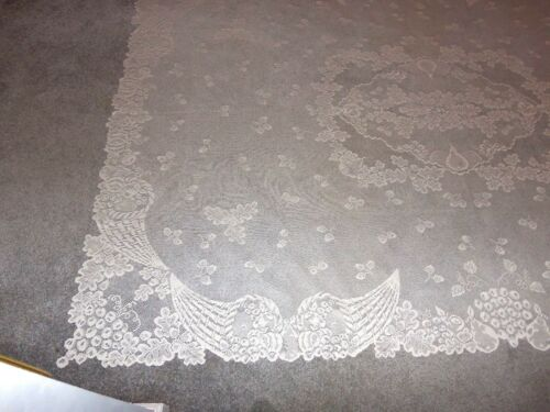 "Lace Tablecloth Ivory Coornucopia design 60/"" x 84/"""