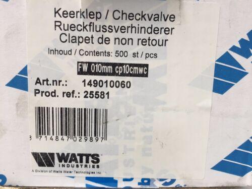 FW 010mm cp10cmwc Rückflussverhnderer unbenutzt WATTS Industries 149010060