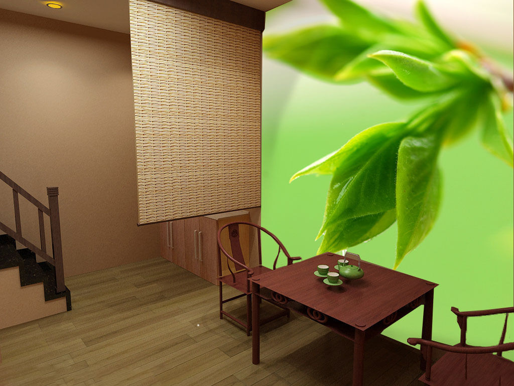 3D Tender green tea 1 WallPaper Murals Wall Print Decal Wall Deco AJ WALLPAPER