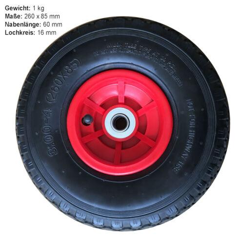 Luftrad sackkarrenrad rueda carretilla carretilla de saco neumáticos Neumáticos 260x85 mm