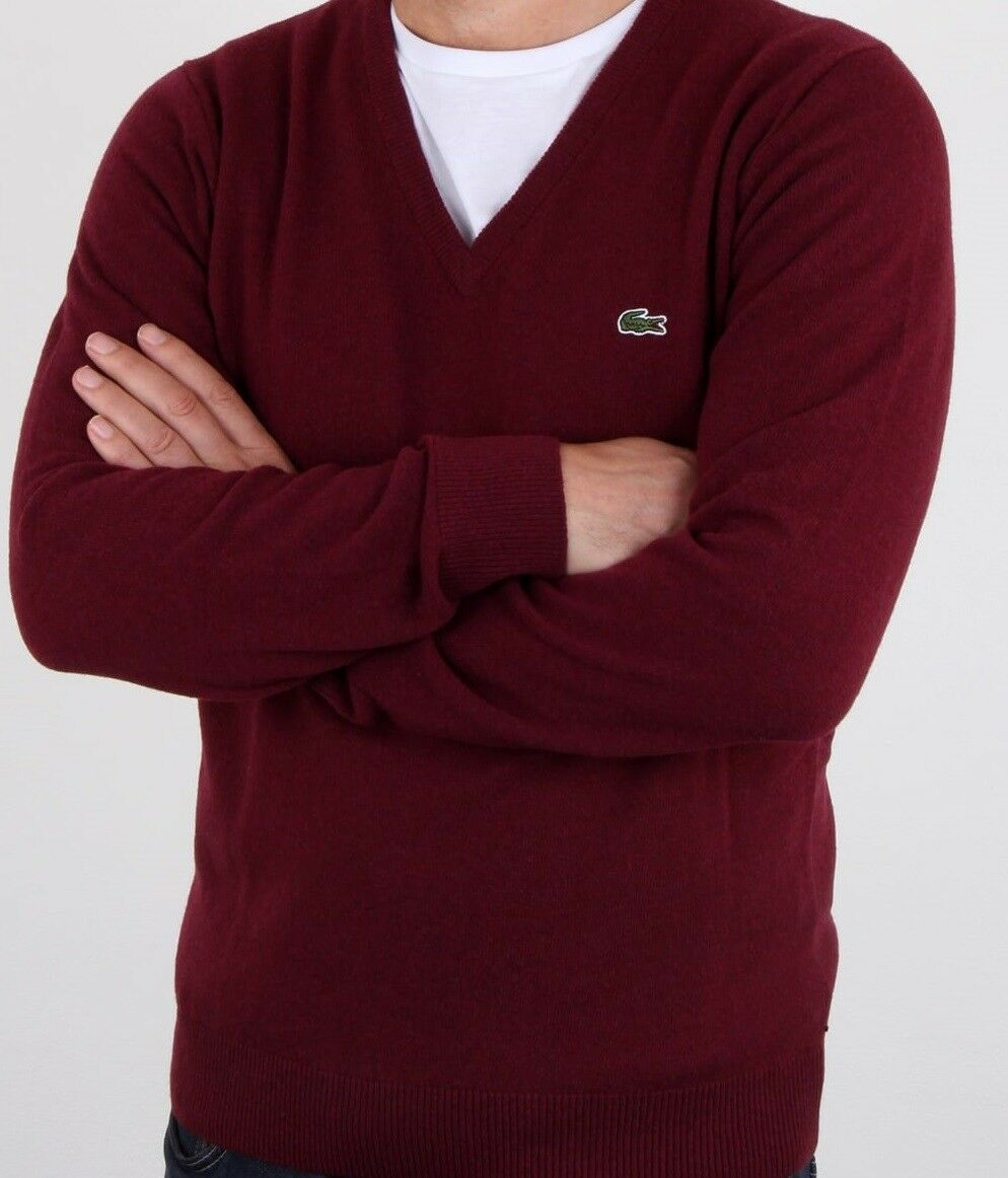 Rouge Pull T5 Large Laine Bnwt Col 100 Ah3003 V Lacoste Rrp UP47gqxwg