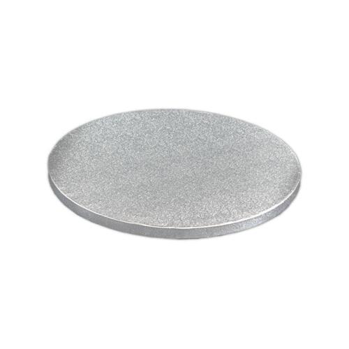 """312 x 312 cm 12.2/"""" Grande Round Cake Board argent forte de 10 mm d/'épaisseur"""