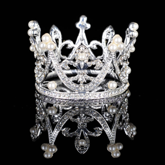 Wedding Tiara Bridal Kids Crown Pearls Crystal Rhinestone Pageant Party Headband