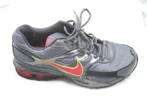 Nike-size-10M-Reax-Dominate-gray-pink-running-womens-ladies-athletic-shoes