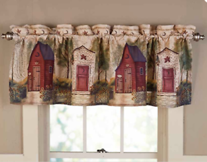 Rustic Country Window Valance Curtain Bathroom Decorating Idea ...