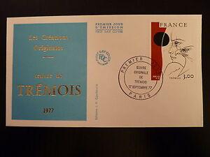 FRANCE-PREMIER-JOUR-FDC-YVERT-1950-TABLEAU-DE-TREMOIS-3F-PARIS-1977