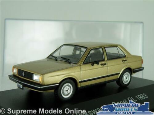 Estuche VW Jetta K8 VOLKSWAGEN Gacel Coche Modelo 1983 oro maletero 1:43 escala IXO