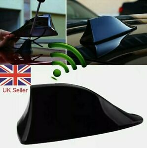 UK-Black-Car-Shark-Fin-Roof-Antenna-Aerial-FM-AM-Radio-Signal-Universal-NEW