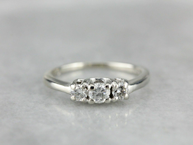 58dbb9c35 Diamond White gold Engagement Ring Three nqmxye3763-Other Fine ...