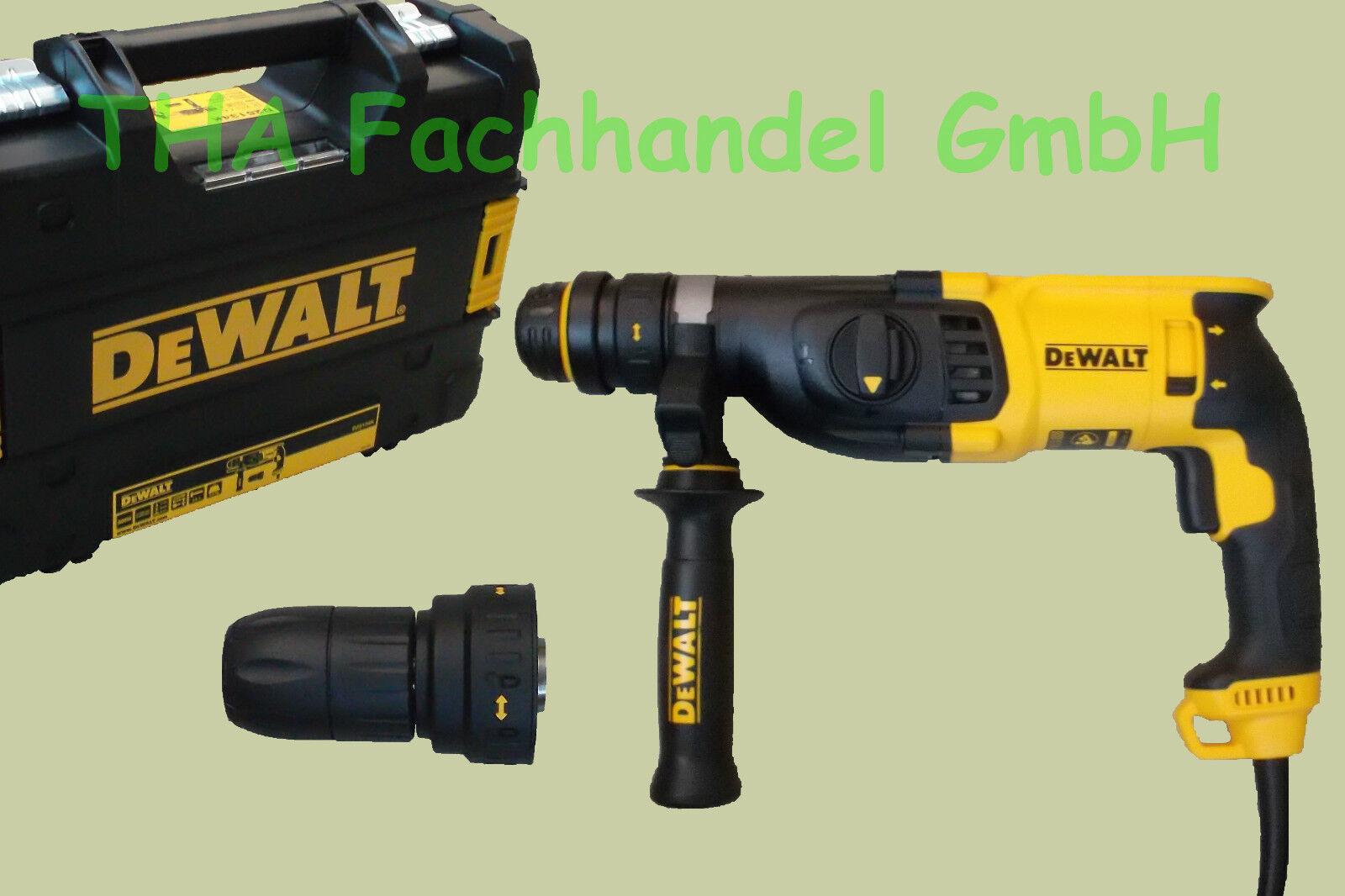 Dewalt SDS-Plus Kombihammer D25134K inkl. Wechselbohrfutter Bohrhammer T Stak