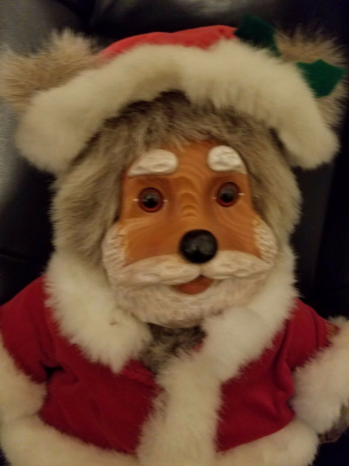 Robert Raikes Santa Bear  Wood carved Face and Feet 18